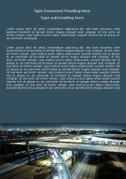 Junction On Highway Word Template, Cover Page, 06566, Construction — PoweredTemplate.com