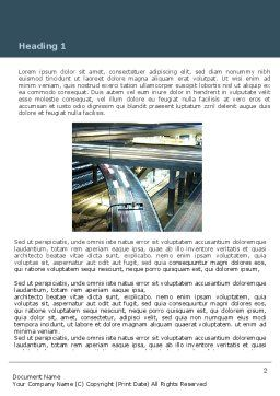 Junction On Highway Word Template, First Inner Page, 06566, Construction — PoweredTemplate.com