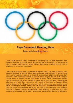 Olympic Games Rings Word Template, Cover Page, 06569, Sports — PoweredTemplate.com