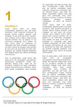 Olympic Games Rings Word Template, First Inner Page, 06569, Sports — PoweredTemplate.com
