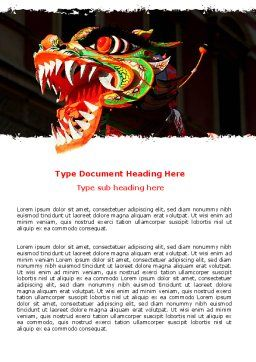 Carnival Dragon Word Template, Cover Page, 06572, Holiday/Special Occasion — PoweredTemplate.com