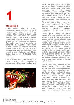 Carnival Dragon Word Template, First Inner Page, 06572, Holiday/Special Occasion — PoweredTemplate.com