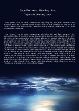 Sky over Sea Word Template Cover Page