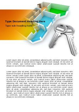 Apartment Keys Word Template, Cover Page, 06576, Careers/Industry — PoweredTemplate.com