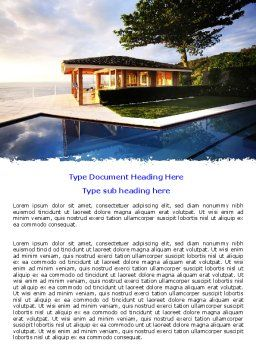 Modern Cottage Word Template, Cover Page, 06579, Construction — PoweredTemplate.com