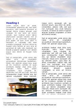 Modern Cottage Word Template, First Inner Page, 06579, Construction — PoweredTemplate.com