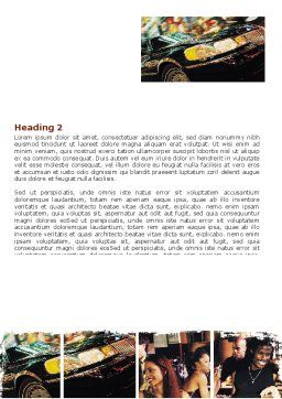 Luxurious Life Word Template, Second Inner Page, 06580, People — PoweredTemplate.com