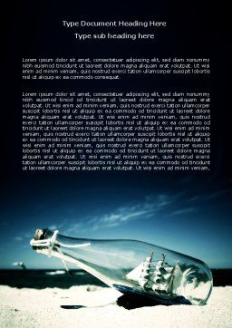 Ship In The Bottle Word Template, Cover Page, 06581, Cars/Transportation — PoweredTemplate.com