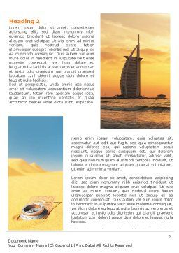 Arab Emirates Word Template, First Inner Page, 06583, Nature & Environment — PoweredTemplate.com
