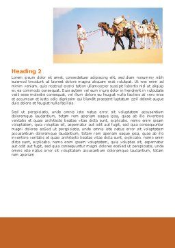 Arab Emirates Word Template, Second Inner Page, 06583, Nature & Environment — PoweredTemplate.com