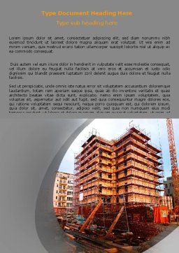 Building Sector Word Template, Cover Page, 06587, Construction — PoweredTemplate.com