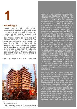 Building Sector Word Template, First Inner Page, 06587, Construction — PoweredTemplate.com