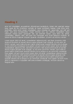Building Sector Word Template, Second Inner Page, 06587, Construction — PoweredTemplate.com