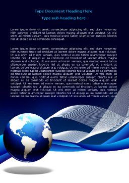 Midnight Blue Globe Word Template Cover Page