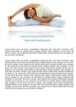 Free Body Stretching Word Template Cover Page