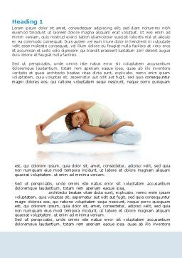 Free Body Stretching Word Template First Inner Page