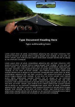 High Speed Driving Word Template, Cover Page, 06591, Cars/Transportation — PoweredTemplate.com