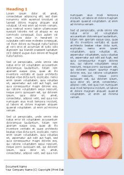 Taking Pills Word Template, First Inner Page, 06594, Medical — PoweredTemplate.com