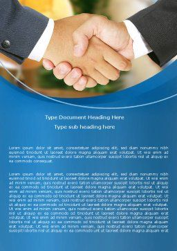 Business Deal And Agreement Word Template, Cover Page, 06596, Business — PoweredTemplate.com