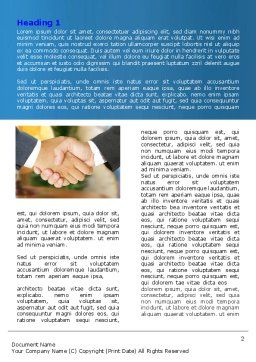 Business Deal And Agreement Word Template, First Inner Page, 06596, Business — PoweredTemplate.com