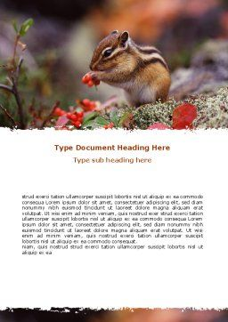 Free Chipmunk Word Template Cover Page