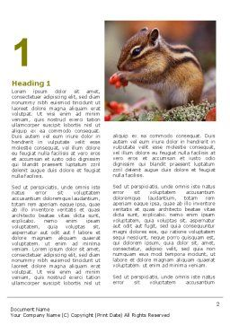 Free Chipmunk Word Template First Inner Page