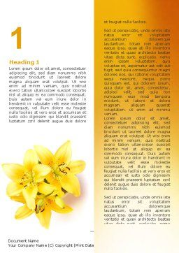 Yellow Lilies Word Template, First Inner Page, 06598, Holiday/Special Occasion — PoweredTemplate.com