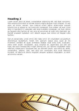 Film Reel In Light Brown Color Word Template Second Inner Page