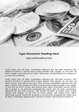 Monetary Reserves Word Template, Cover Page, 06600, Financial/Accounting — PoweredTemplate.com
