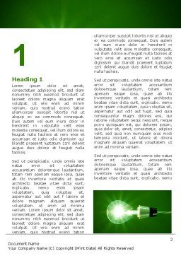 Green Lamp Word Template, First Inner Page, 06604, Technology, Science & Computers — PoweredTemplate.com