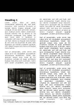 Lobby Space Word Template, First Inner Page, 06606, Construction — PoweredTemplate.com