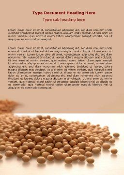 Soy Beans Word Template, Cover Page, 06609, Agriculture and Animals — PoweredTemplate.com