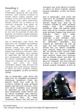 Steam Locomotive Word Template First Inner Page