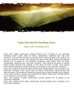Mountain Look Word Template, Cover Page, 06611, Nature & Environment — PoweredTemplate.com