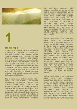 Mountain Look Word Template First Inner Page