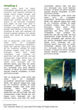 Futuristic Cityscape Word Template, First Inner Page, 06613, Construction — PoweredTemplate.com