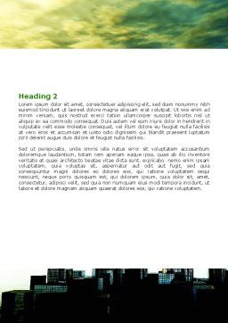 Futuristic Cityscape Word Template, Second Inner Page, 06613, Construction — PoweredTemplate.com
