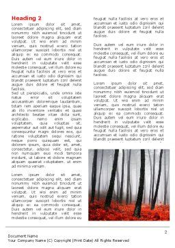 Red Fall Word Template First Inner Page
