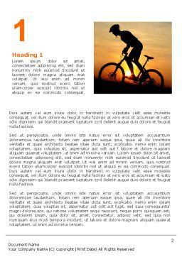 Big Efforts Word Template, First Inner Page, 06616, Sports — PoweredTemplate.com