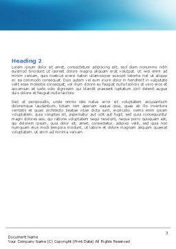 Swordfish Word Template, Second Inner Page, 06617, Nature & Environment — PoweredTemplate.com