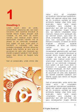 Free Gearwheels Word Template, First Inner Page, 06619, Utilities/Industrial — PoweredTemplate.com