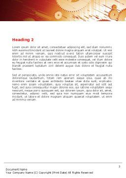 Free Gearwheels Word Template, Second Inner Page, 06619, Utilities/Industrial — PoweredTemplate.com