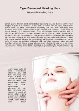 Face Pack Word Template, Cover Page, 06620, Medical — PoweredTemplate.com