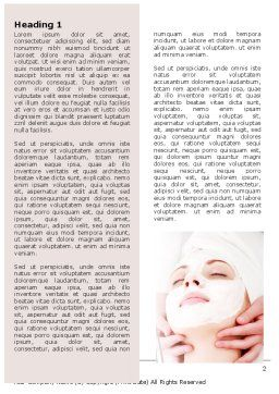 Face Pack Word Template, First Inner Page, 06620, Medical — PoweredTemplate.com