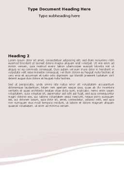 Face Pack Word Template, Second Inner Page, 06620, Medical — PoweredTemplate.com
