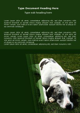 Dane Word Template, Cover Page, 06622, Agriculture and Animals — PoweredTemplate.com