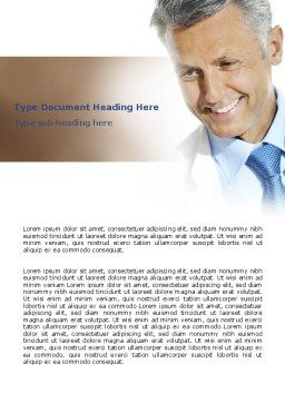 Doctor Smile Word Template, Cover Page, 06623, People — PoweredTemplate.com