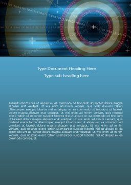 Targeting Word Template, Cover Page, 06626, Technology, Science & Computers — PoweredTemplate.com