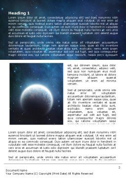 Deep Space Word Template, First Inner Page, 06627, Technology, Science & Computers — PoweredTemplate.com