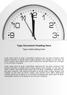 Free Seconds Before Noon Word Template, Cover Page, 06628, Business — PoweredTemplate.com